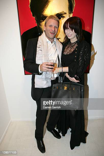 Jaime Wood and Anna Abramovich attend the private view of David Bailey's art exhibition 'Hitler Killed the Duck' at Scream Gallery on October 6 2011...