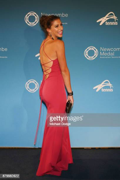 Jaimee Fourlis poses at the 2017 Newcombe Medal at Crown Palladium on November 27 2017 in Melbourne Australia