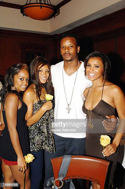 Jaimee Foxworth Drew Sidora Kerry Rhodes and Melody Thornton at Flemings Steakhouse after the 1st Annual Kerry Rhodes Foundation Celebrity Basketbal...