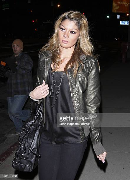 Jaimee Grubbs alleged Tiger Woods mistress sigthing in West Hollywood on December 5 2009 in Los Angeles California
