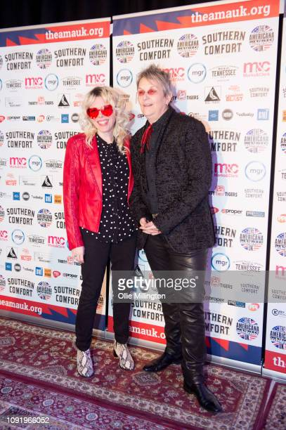 Jaimee Harris and Mary Gautheir attends the UK Americana Awards 2019 held at Hackney Empire on January 31 2019 in London England