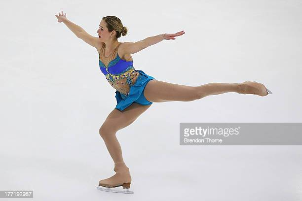 Jaimee Nobbs of Australia competes in the Senior Ladies Free Program during Skate Down Under at Canterbury Olympic Ice Rink on August 22 2013 in...