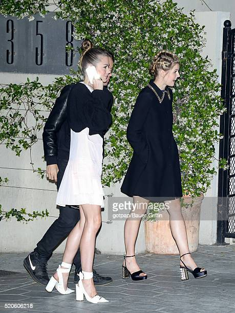 Jaimi King and Ana MulvoyTen are seen on April 11 2016 in Los Angeles California