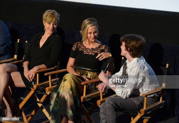 """Jaimi Paige, Alyshia Ochse, and Toby Nichols attend the screening of """"Desolation"""" during the 2017 Los Angeles Film Festival at Arclight Cinemas..."""