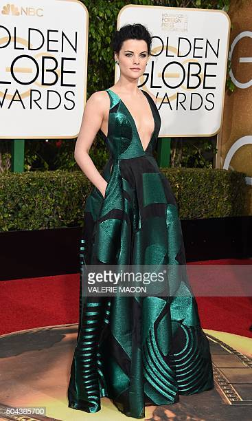 Jaimie Alexander arrives at the 73nd annual Golden Globe Awards January 10 at the Beverly Hilton Hotel in Beverly Hills California AFP PHOTO /...