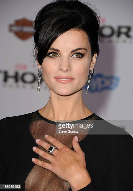Jaimie Alexander arrives at the Thor The Dark World Los Angeles Premiere at the El Capitan Theatre on November 4 2013 in Hollywood California
