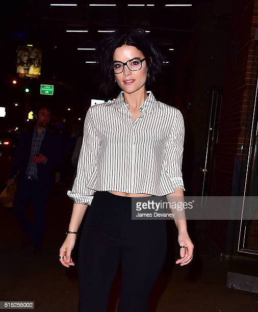 Jaimie Alexander arrives to Buddakan to celebrate her birthday on March 12 2016 in New York City