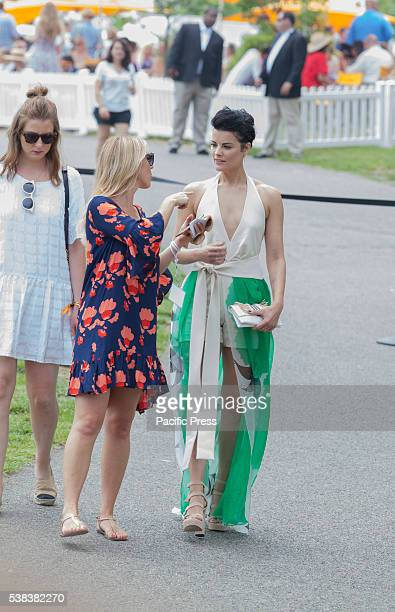 Jaimie Alexander attends 9th annual Veuve Clicquot Polo Classic at Liberty State Park