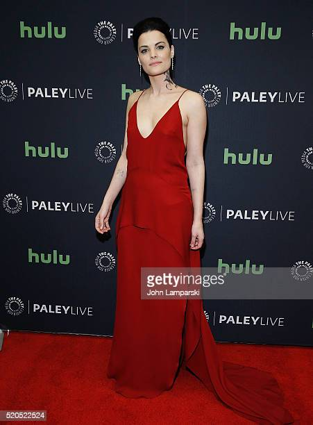 Jaimie Alexander attends PaleyLive NY an evening with the cast creator of Blindspot at The Paley Center for Media on April 11 2016 in New York City