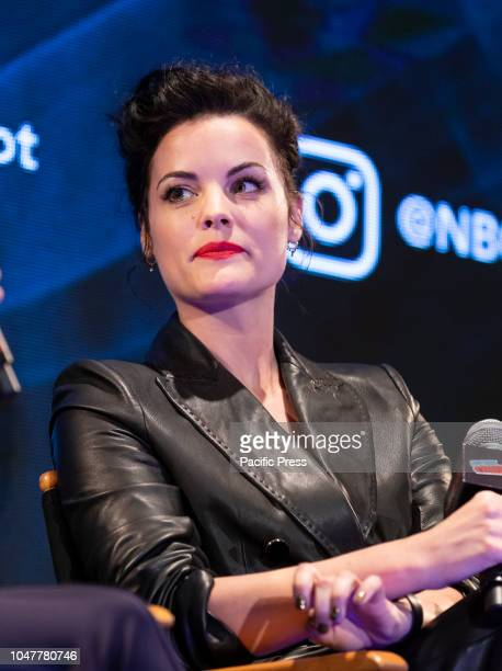 Jaimie Alexander attends panel for NBC series Blindspot during New York Comic Con at Jacob Javits Center