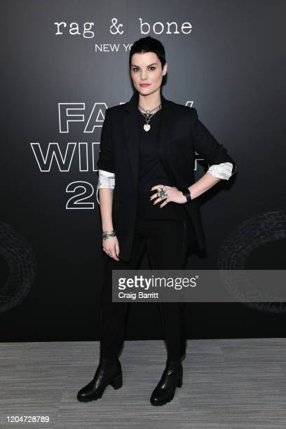 Jaimie Alexander attends rag & bone Fall/Winter 2020 at Skylight on Vesey on February 07, 2020 in New York City.