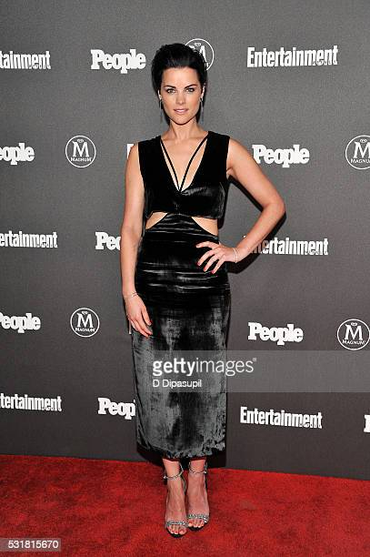 Jaimie Alexander attends the Entertainment Weekly and People New York Upfronts Celebration at Cedar Lake on May 16 2016 in New York City