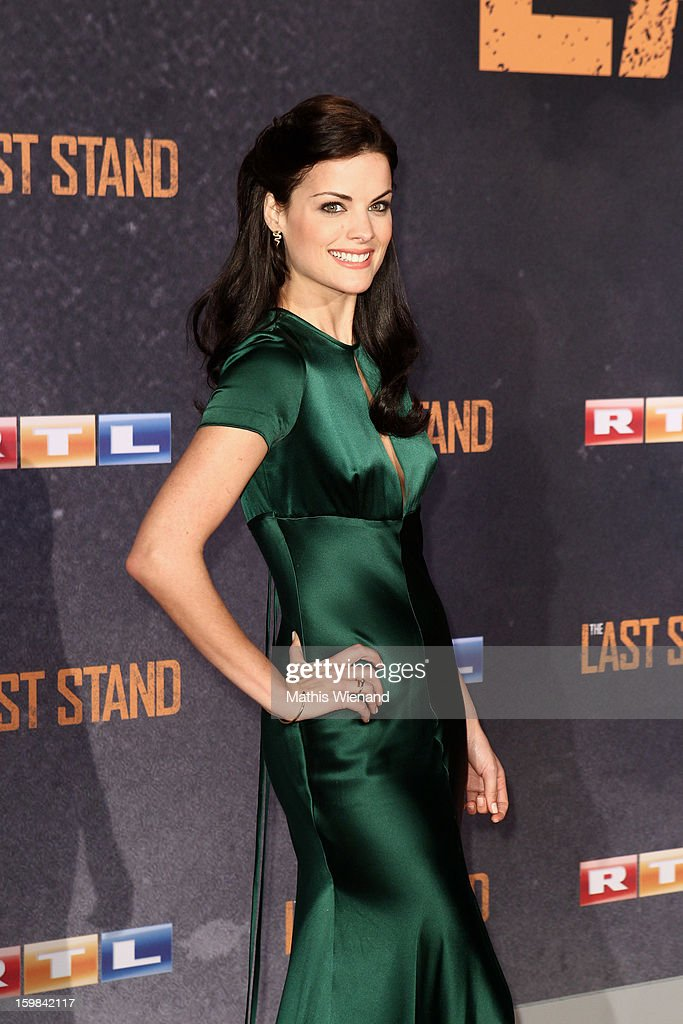 Jaimie Alexander attends the 'The Last Stand' Cologne Premiere at Astor Film Lounge on January 21, 2013 in Cologne, Germany.