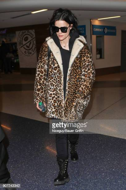 Jaimie Alexander is seen on January 19 2018 in Los Angeles California