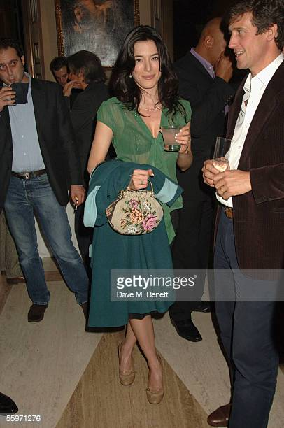 Jaimie Murray attends the private view for Julian Schnabel's Pintura Del Figlo XXI his first show in 6 years at 38 Dover Street on October 19 2005 in...