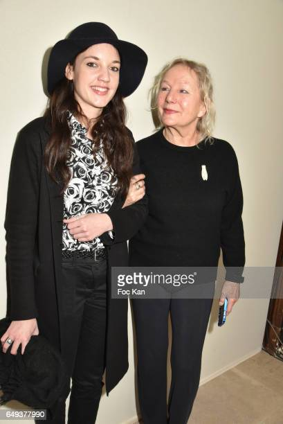 Jain and Agnes B attend the Agnes B show as part of the Paris Fashion Week Womenswear Fall/Winter 2017/2018 at Hotel des Invalides on March 07 2017...