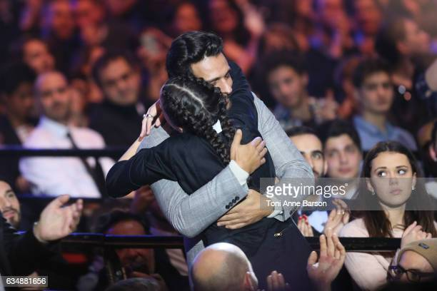 Jain and Maxim Nucci during the '32nd Victoires de la Musique 2017' at Le Zenith on February 10 2017 in Paris France