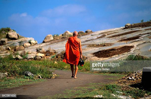 Jain monk on his way to Sravanabelgola an important center for Jain culture