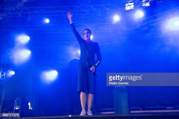 Jain performs on the Sagres Stage on day 1 of NOS Alive festival on July 12 2018 in Lisbon Portugal