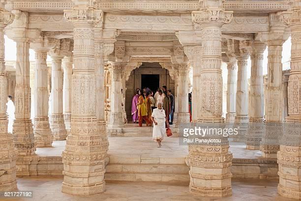 Jain pilgrims, Ranakpur Jain Temple, Rajasthan, India