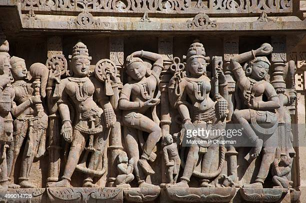 jain sculptures at shatrunjaya, palitana, india - palitana stock photos and pictures