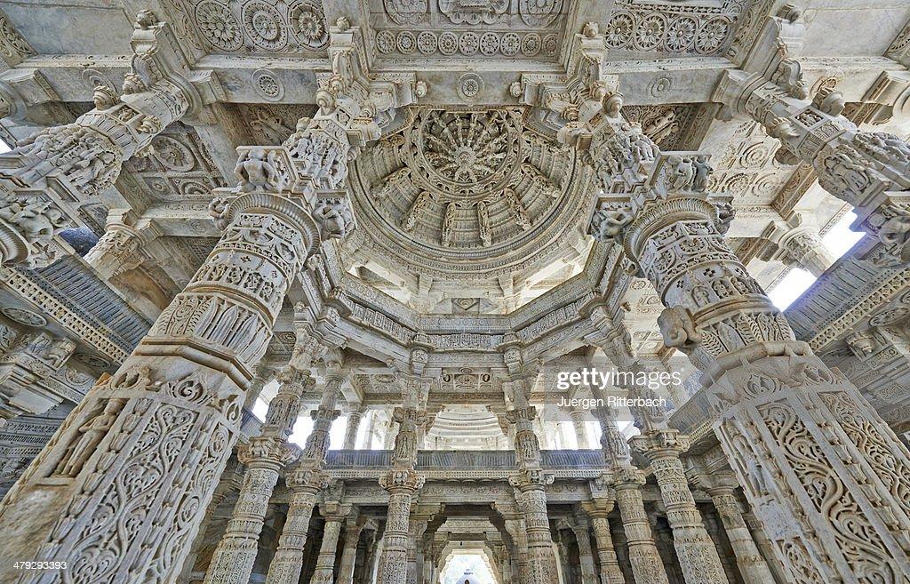 Jain Tempel Ranakpur Chaumukha Mandir : Stock Photo