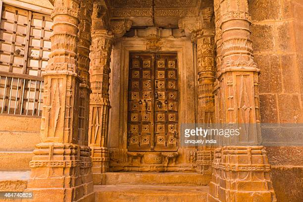 jain temple at jaisalmer fort, jaisalmer, rajasthan, india - jain temple stock photos and pictures