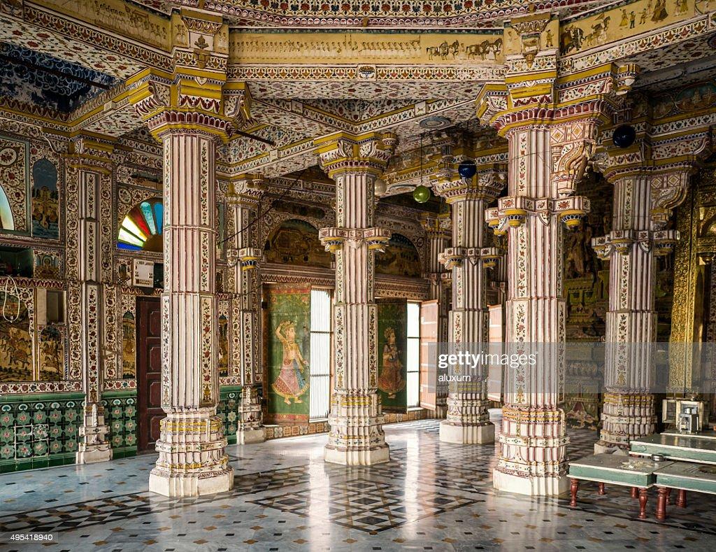 Jain temple Bhandreshwar Bikaner Rajasthan India : Stock Photo