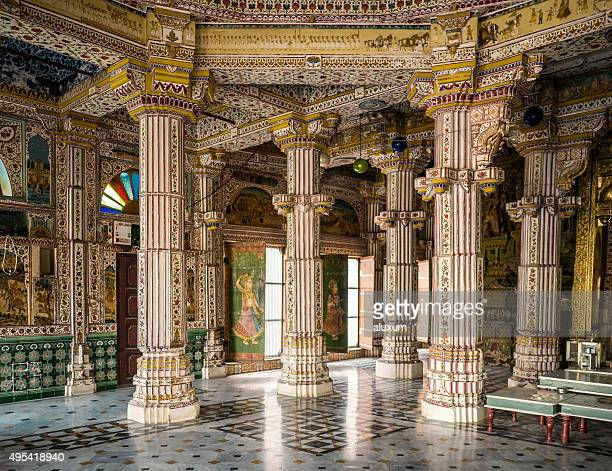 jain temple bhandreshwar bikaner rajasthan india - jain temple stock photos and pictures