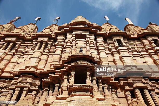 jain temple in jaisalmer fort - jain temple stock photos and pictures