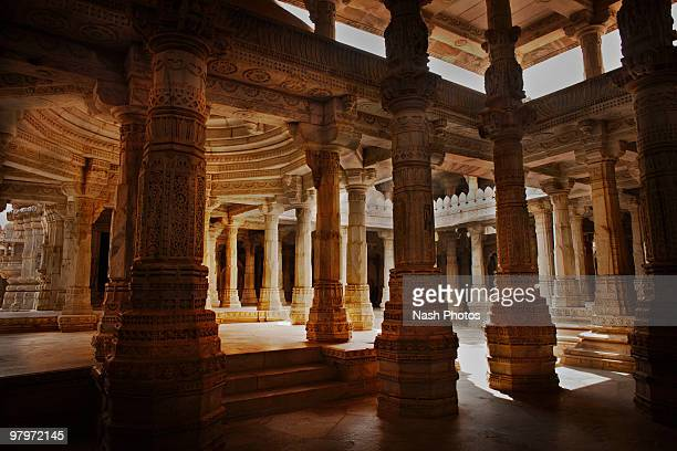 jain temple - ranakpur temple stock photos and pictures