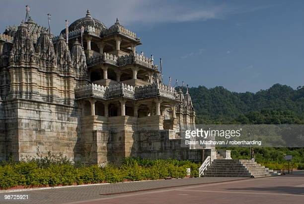 jain temple, ranakpur, rajasthan, india - ranakpur temple stock photos and pictures