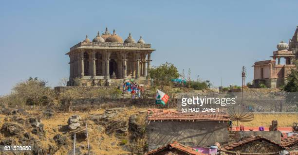jain temples at kumbalgarh fort | unesco world heritage site | rajasthan | india - maharaja stock pictures, royalty-free photos & images