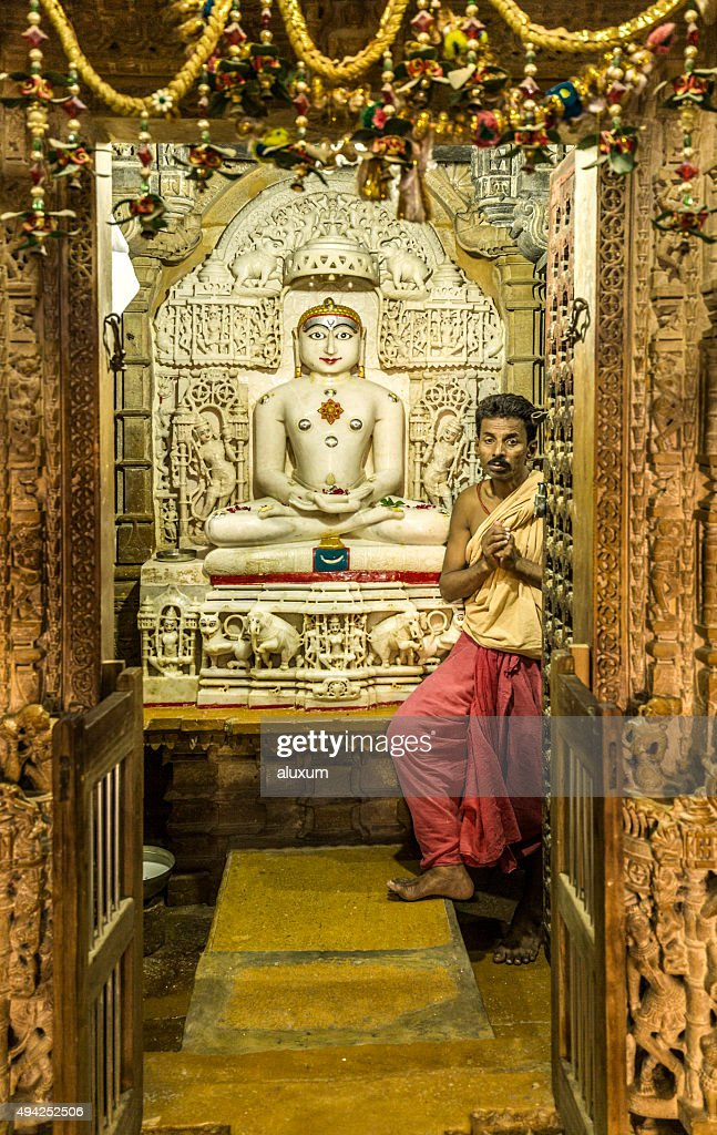 Jain temples complex in Jaisalmer Rajasthan India : Stock Photo