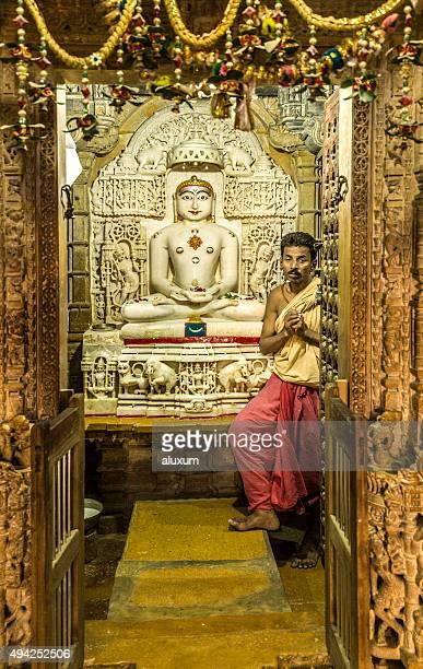 jain temples complex in jaisalmer rajasthan india - jain stock photos and pictures