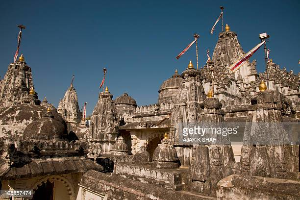 jain temples of palitana - palitana stock photos and pictures