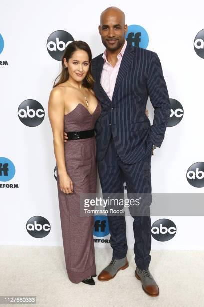 Jaina Lee Ortiz and Boris Kodjoe attend the Disney ABC Television Hosts TCA Winter Press Tour 2019 at The Langham Huntington Hotel and Spa on...