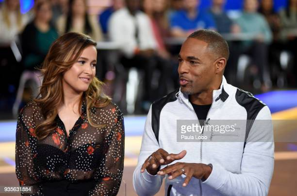 "Jaina Lee Ortiz and Jason George are guests on ""Good Morning America,"" Wednesday, March 21 airing on the Walt Disney Television via Getty Images..."