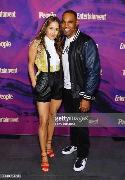 Jaina Lee Ortiz and Jason George attend the Entertainment Weekly PEOPLE New York Upfronts Party on May 13 2019 in New York City