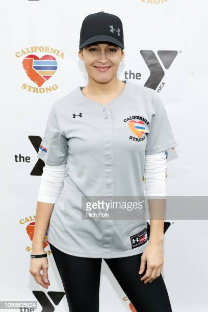Jaina Lee Ortiz attends a charity softball game to benefit California Strong at Pepperdine University on January 13 2019 in Malibu California