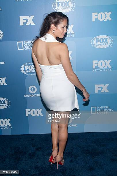 Jaina Lee Ortiz attends the 2015 Fox Programming Presentation red carpet arrivals at the Wollman Rink in Central Park in New York City �� LAN