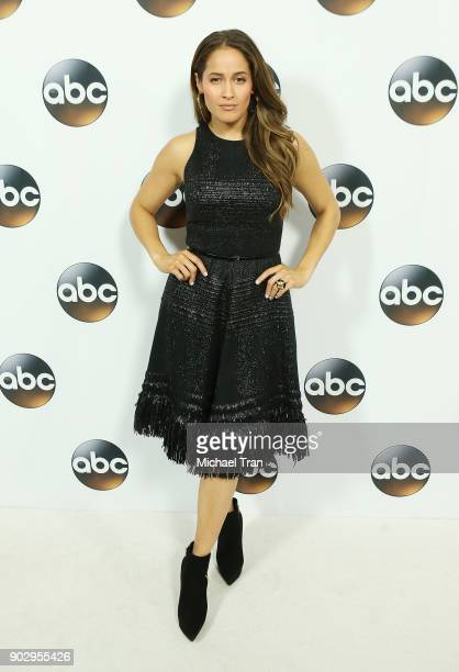 Jaina Lee Ortiz attends the Disney ABC Television Group hosts TCA Winter Press Tour 2018 held at The Langham Huntington on January 8 2018 in Pasadena...