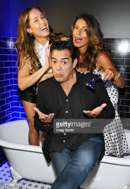 Jaina Lee Ortiz Carlos Gomez and Lisa Vidal attend the Entertainment Weekly PEOPLE New York Upfronts Party on May 13 2019 in New York City