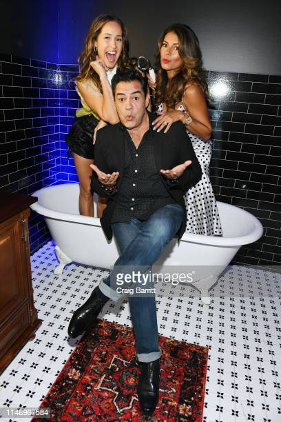 Jaina Lee Ortiz, Carlos Gomez and Lisa Vidal attend the Entertainment Weekly & PEOPLE New York Upfronts Party on May 13, 2019 in New York City.