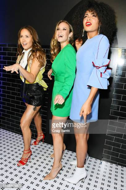 Jaina Lee Ortiz Danielle Savre and Barrett Doss attend the Entertainment Weekly PEOPLE New York Upfronts Party on May 13 2019 in New York City