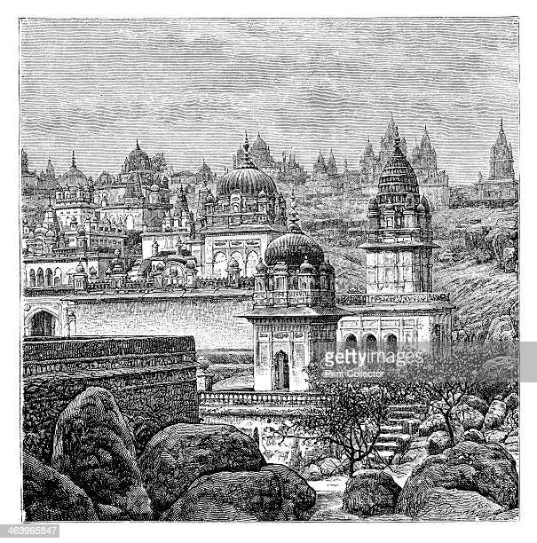 Jaina temples Junagadh Gujarat India 1895 From The Universal Geography with Illustrations and Maps division XVI written by Elisee Reclus and...