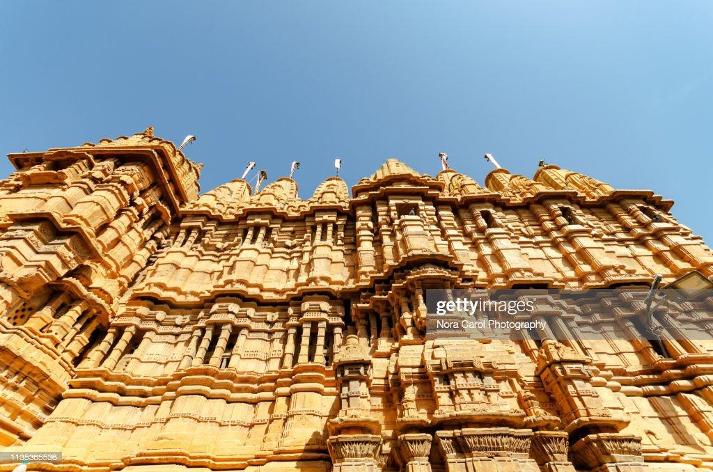 Jainism Temple in Jaisalmer Fort : Stock Photo