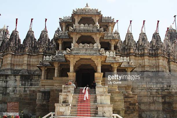 jains temple, rajasthan - jain temple stock photos and pictures