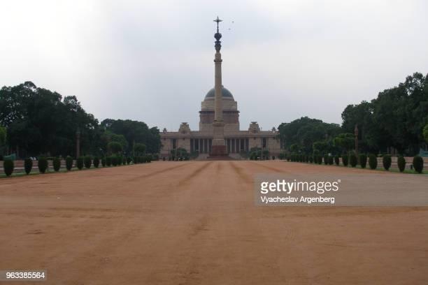 "jaipur column in front of rashtrapati bhavan (presidential residence, previously ""viceroy's house""), rajpath, new delhi, india - argenberg bildbanksfoton och bilder"