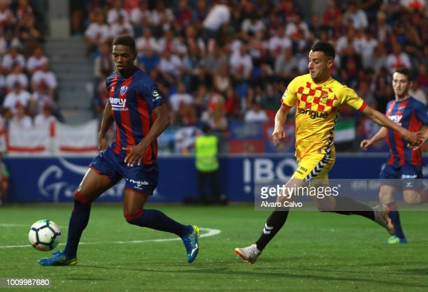 Jair Amador during the Spanish Liga123 match between SD Huesca and Nastic de Tarragona at Alcoraz Stadium on on May 27 2018 in Huesca Spain